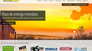 Filtros Cartés renueva su página web