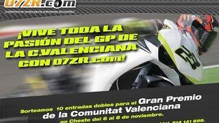 07ZR.com sortea entradas para el GP de Cheste de motos