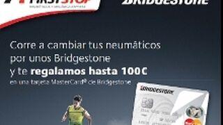 Cien euros de regalo por comprar neumáticos Bridgestone en First Stop