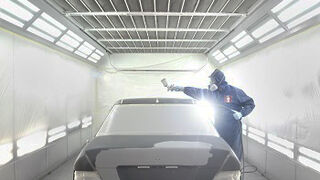 Pasos para baremar el trabajo de pintura en un vehículo con acabado tricapa perlado