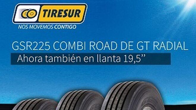 El neumático GSR225 Combi Road de GT Radial, también en llanta de 19.5''