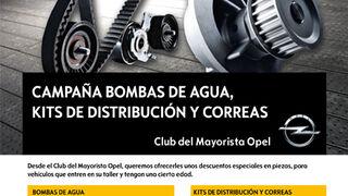 Campaña de bombas de agua, kits de distribución y correas de Opel