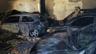 Un herido en un incendio de un taller en Mallorca
