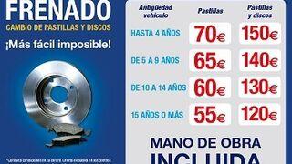 Cambio de pastillas y discos con precio cerrado en 12 centros Norauto