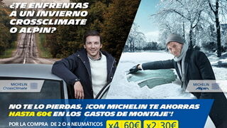 Michelin regala hasta 60 euros al comprar CrossClimate o Alpin