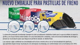 Metelli, nuevo embalaje para pastillas de freno