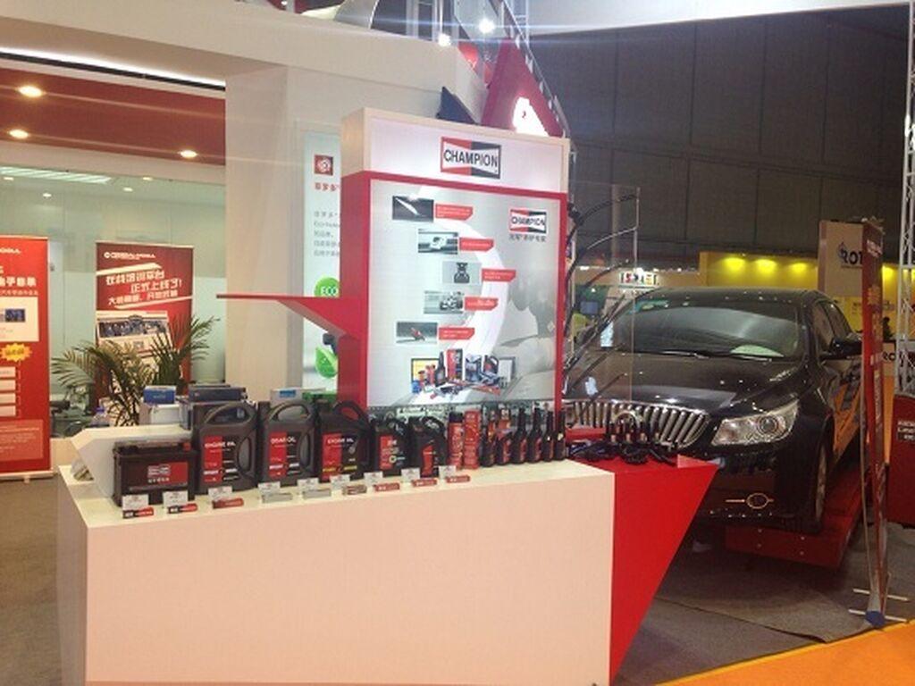 Champion también exhibió sus productos.