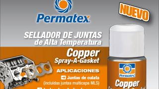 Nuevo sellador de juntas de alta temperatura Permatex 'Copper Spray-a-gasket'