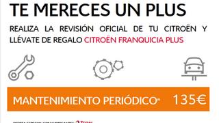 Citroën regala un seguro con franquicia al realizar los mantenimientos periódicos