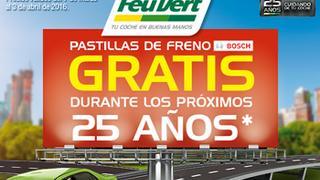 Feu Vert regala las pastillas durante 25 años por el cambio de unas Bosch