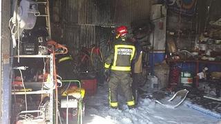 Incendio sin víctimas en un taller de Cantabria