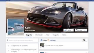 Koni estrena página en Facebook