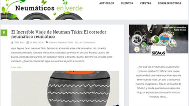 Signus pone en marcha su blog 'Neumáticos en verde'