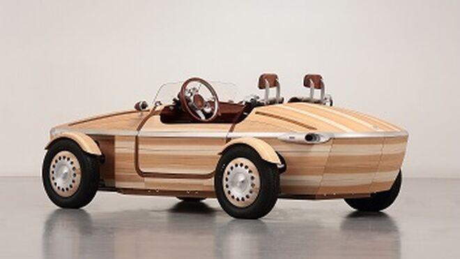 Así es el coche de madera de Toyota