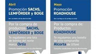 Serca premia la compra de productos Sachs, Lemförder, Boge y Road House