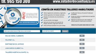 Ya en marcha el buscador de talleres de confianza de Alicante