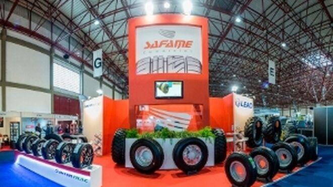 Safame promociona en Portugal sus marcas Leao, Intertrac y Recauchutados Mesas
