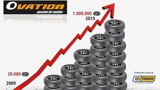 Tiresur comercializó un millón de neumáticos Ovation en 2015