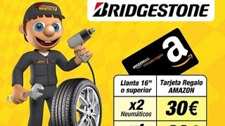 Confortauto regala hasta 60 € para Amazon con los neumáticos Bridgestone