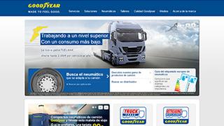 Goodyear estrena web para neumáticos de camión