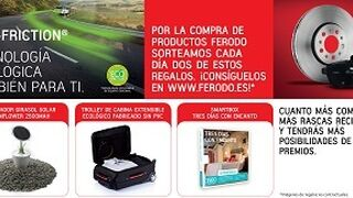 Ferodo premia a talleres y tiendas la compra de pastillas Eco-Friction