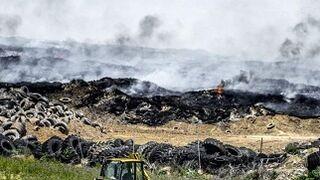 Los drones detectan 12.000 toneladas de neumáticos sin arder en Seseña