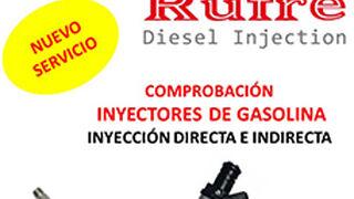 Rufre puede ya comprobar inyectores de gasolina de inyección directa