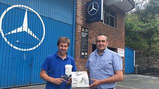PPG premia la fidelidad de la red de talleres de Mercedes
