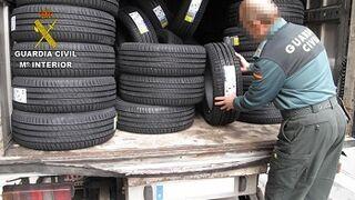 Detenidos cinco hombres por el robo de 142 neumáticos