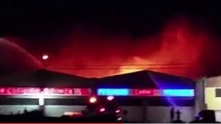 Un taller de chapa y pintura se incendia en Tenerife