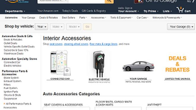 Amazon potencia su venta online de recambios