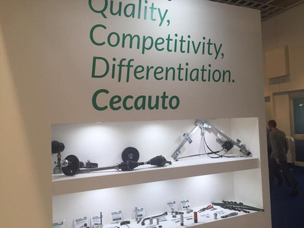 'Calidad, Competitividad, Diferenciación', lema de Cecauto en Automechanika.