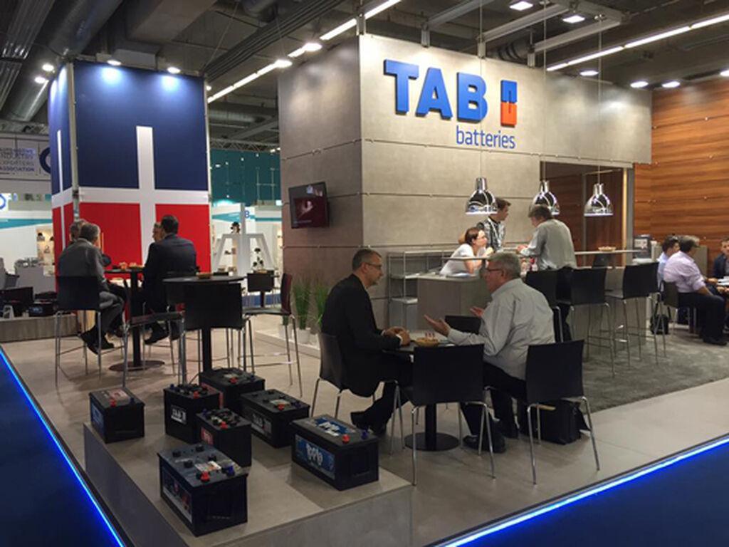 Las baterías de TAB en Frankfurt.