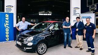 Los ganadores de la campaña de verano de Goodyear ya tienen su Fiat 500 Cabrio