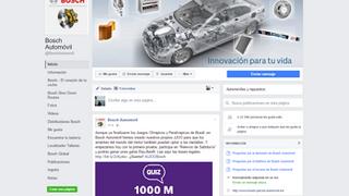 Bosch invita a participar en sus 'Juegos Olímpicos' en Facebook