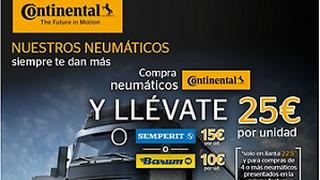 Continental bonifica los neumáticos de camión adquiridos en BestDrive