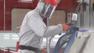 Cómo realizar las operaciones de lijado o aplicación de pintura de forma segura