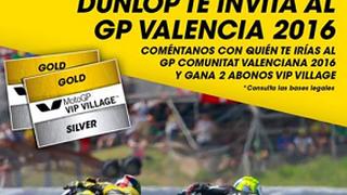 Dunlop invita al Gran Premio de Valencia 2016