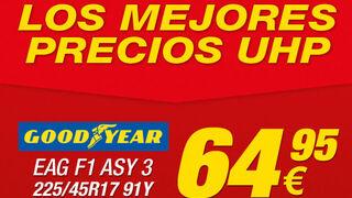 Neumáticos Soledad, los mejores precios UHP en Goodyear y Pirelli