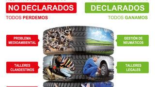 Stop al fraude en los neumáticos, campaña de Adine