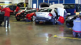 A cada taller en España le corresponde una media de 570 vehículos
