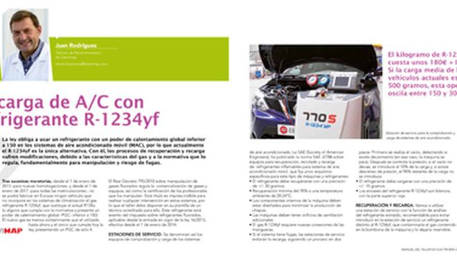 Recarga de AC con refrigerante R1234yf