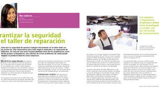 Garantizar la seguridad en el taller de reparación