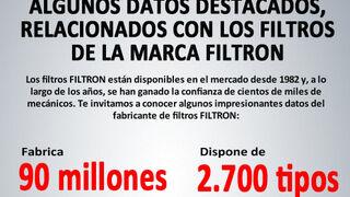 Algunos datos destacados, relacionados con los filtros de la marca Filtron