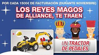 Nex regala un tractor para niños con los neumáticos Alliance