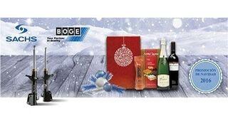 ZF regala un lote navideño con los amortiguadores Sachs y Boge