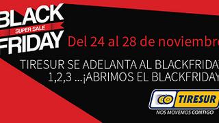 Tiresur adelanta un día el 'Black Friday'