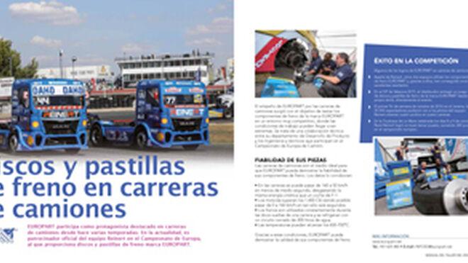 Europart, discos y pastillas de freno en carreras de camiones