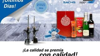 Últimos días del lote navideño de regalo con los amortiguadores Sachs y Boge