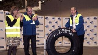 Michelin alcanza los 50 millones de neumáticos de camión producidos en Aranda de Duero